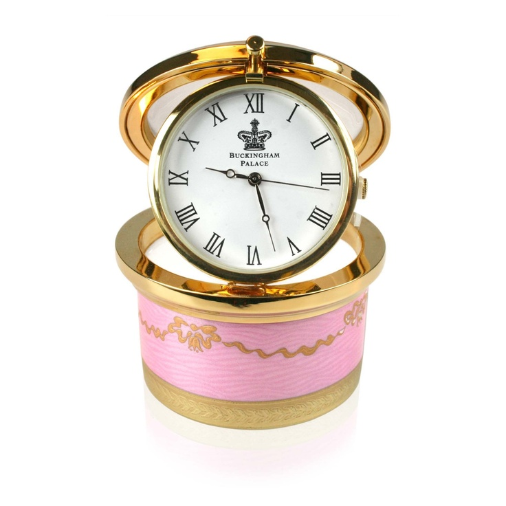 Imperial Russian Pillbox Clock inspired by the exquisite jewelled and guilloche enamelling work of Carl Faberge