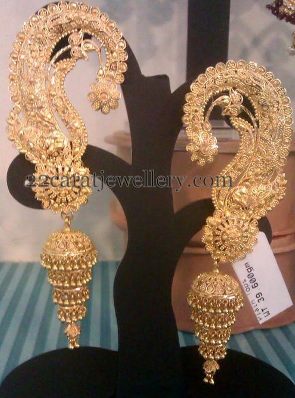 Jewellery Designs: Floral Design Allover Jhumkas 40gms