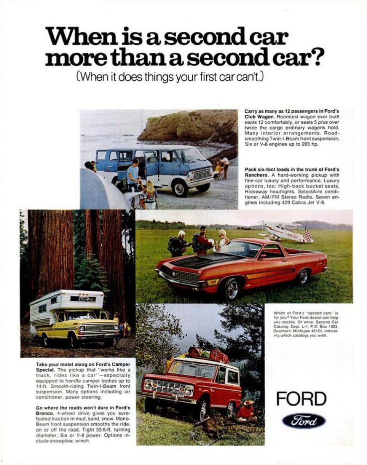 1970 Ford Truck Ad Ranchero 7 Engines Including 429 Cobra