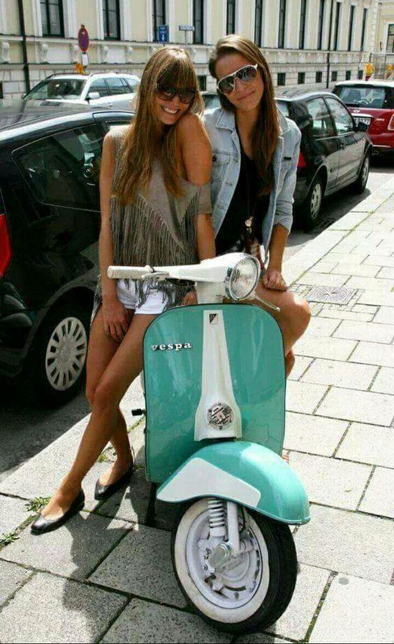 Vespa Beauty #Scooters #BeautifulGirls #ItalianDesign