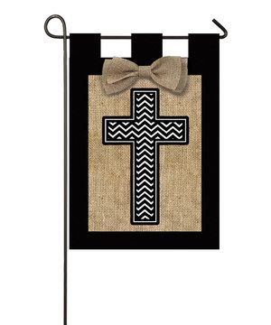 Look what I found on #zulily! Burlap Cross Garden Flag by Evergreen #zulilyfinds