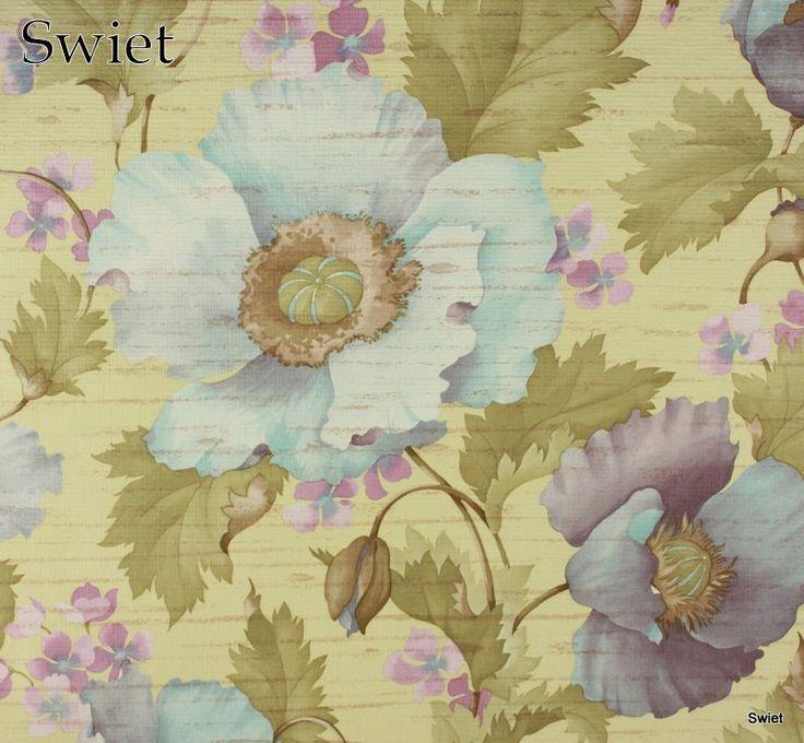 Aquarel look bloemenbehang | Swiet