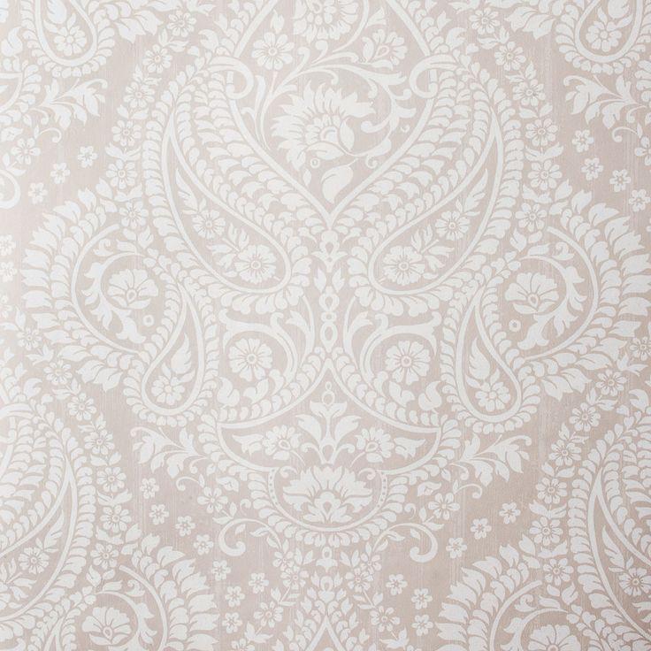Gray / Grey and White Paisley Wallpaper | ZARA HOME United States of America