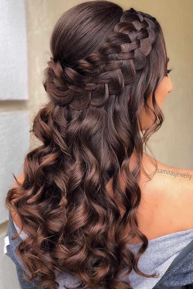 Nice Holiday Half Up Hairstyles For Long Hair Lovehairstyles Com Hair Styles Down Hairstyles For Long Hair Hair