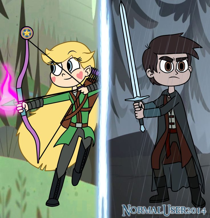 Mid evil Star and Marco