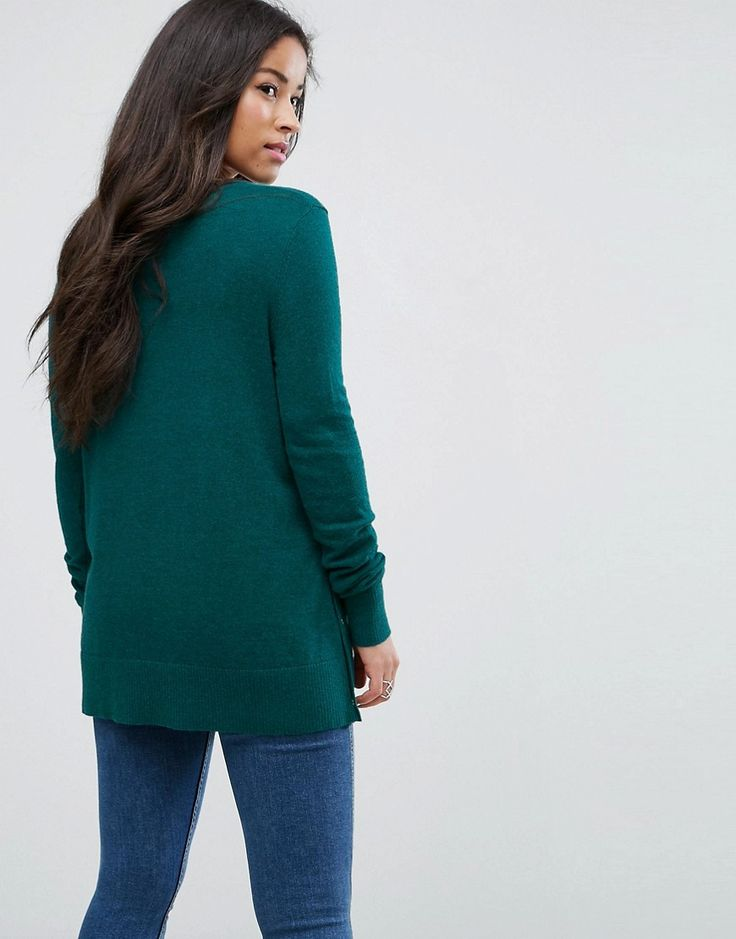 ASOS Maternity NURSING Feeding Machine Slogan Sweater - Green