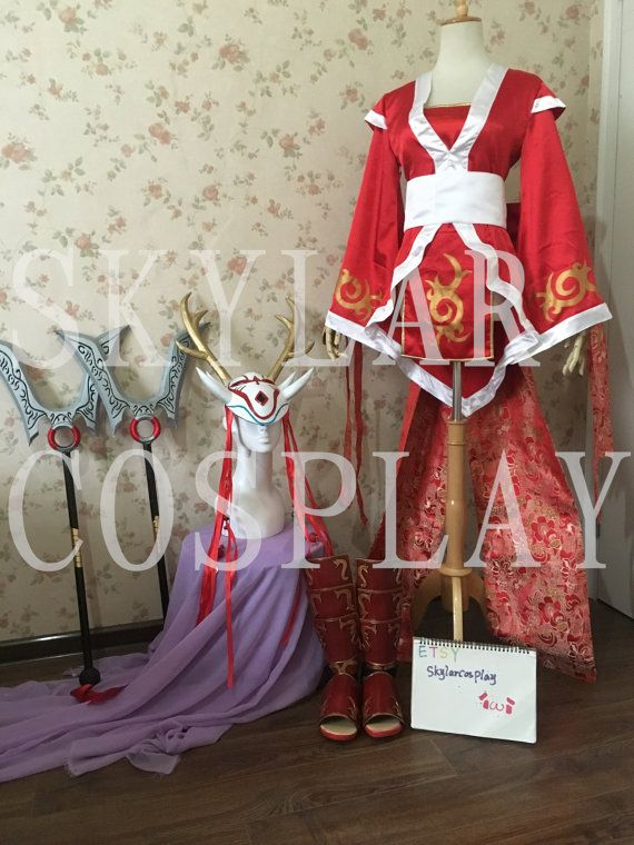 LOL League of Legends Blood moon Akali cosplay costume&Weapons