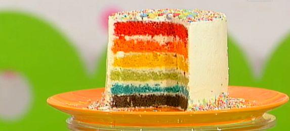 torta arcobaleno ricetta dolci dopo il tiggì
