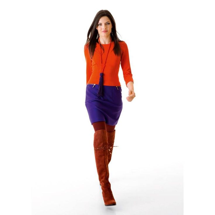 Oranje met paars!