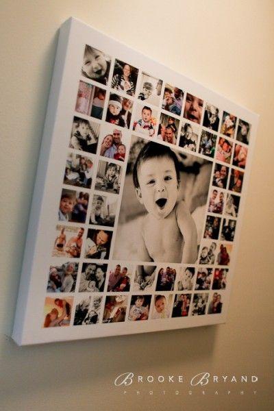 Quadro fotos bebê.