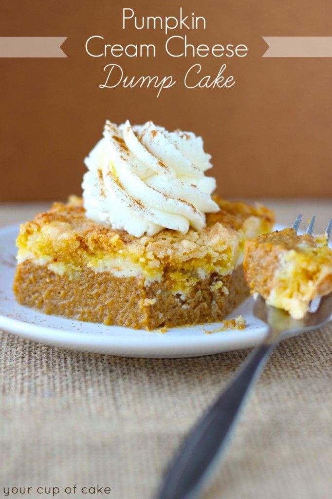Pumpkin Cream Cheese Dump Cake (and how I got dumped)