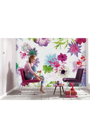 $89.94 100 x 145, paste included, vinyl coated, wipe clean w/damp cloth, Wallpops 'Fleur de Paris' Wall Mural (8-Panel) available at #Nordstrom
