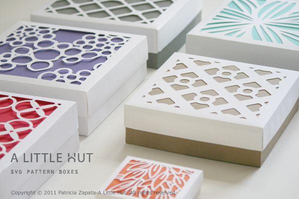 Des petites boîtes sympas: Paper Cut, Art Patterns, Cut Boxes, Paper Punch Art, Patricia Zapata, Paper Patterns, Wraps Paper, Paper Crafts, Gifts Boxes