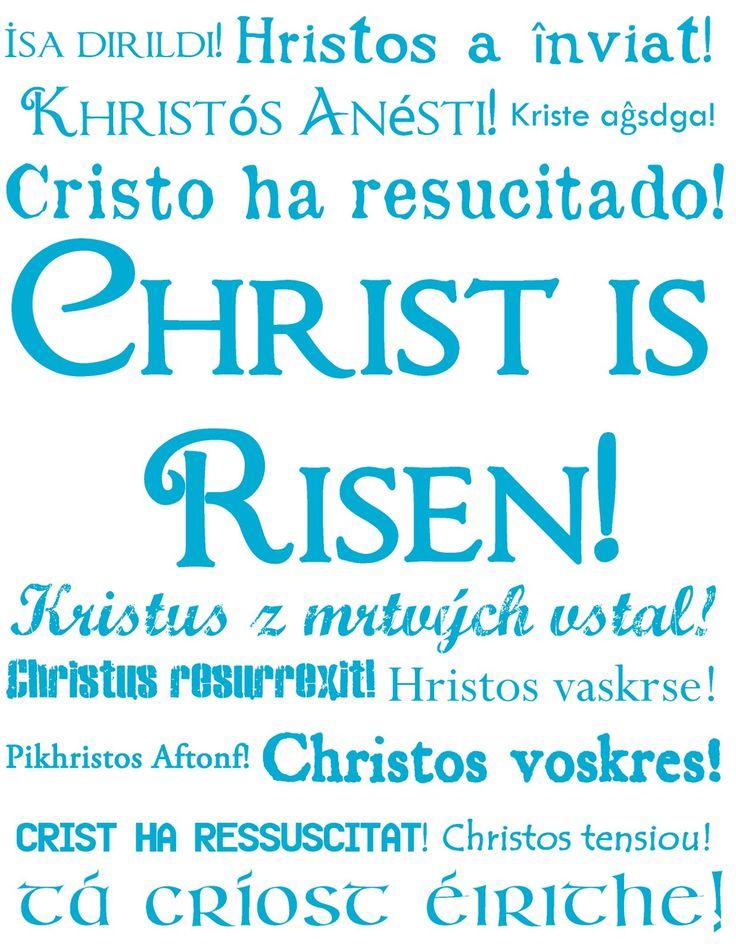 Sweet Cs Designs: Quick Easter Decoration- Christ is Risen! Subway Art