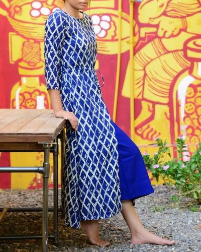 Blue Rayon Kurta I Shop at :http://www.thesecretlabel.com/sugandh