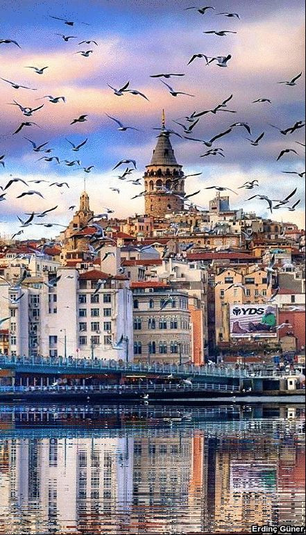 The GalataTower in Istanbul, Turkey.