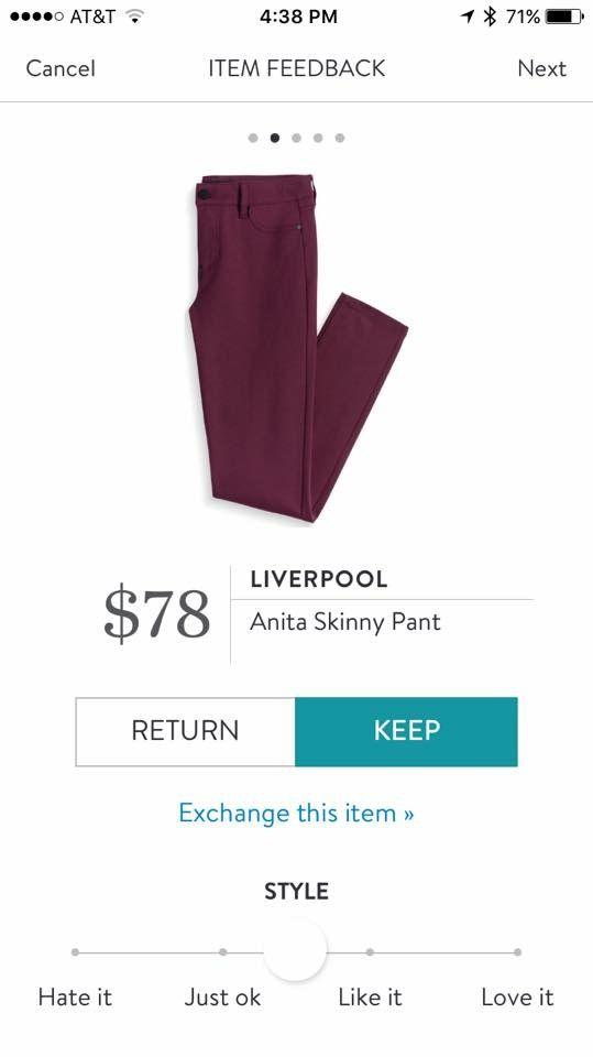 Cranberry pants -- so pretty