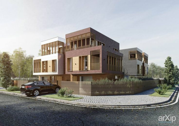 ДУПЛЕКСЫ В ПОСЕЛКЕ WOODLAND: архитектура, зd визуализация, жилье, 3 эт | 9м, хай-тек, 500 - 1000 м2, каркас - ж/б, коттедж, особняк, архитектура #architecture #3dvisualization #housing #3floors_9m #hitech #500_1000m2 #frame_ironconcrete #cottage #mansion #architecture arXip.com