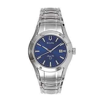 847d9af0823 Bulova® Marine Star Stainless Steel with Blue Dial Watch at www.carsons.com