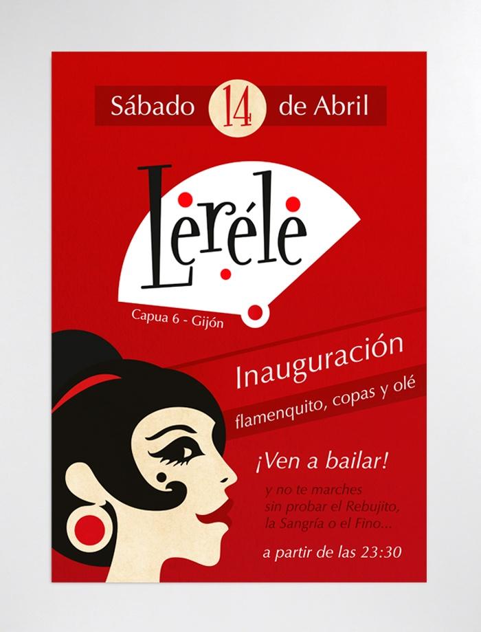 Logotipo y cartel para bar flamenco
