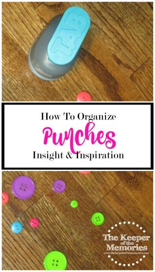Welcome to week 15 of the 52 Weeks to an Organized Workspace challenge. This week, we're organizing punches. Do you love 'em or hate 'em? Do you have too many or too few?