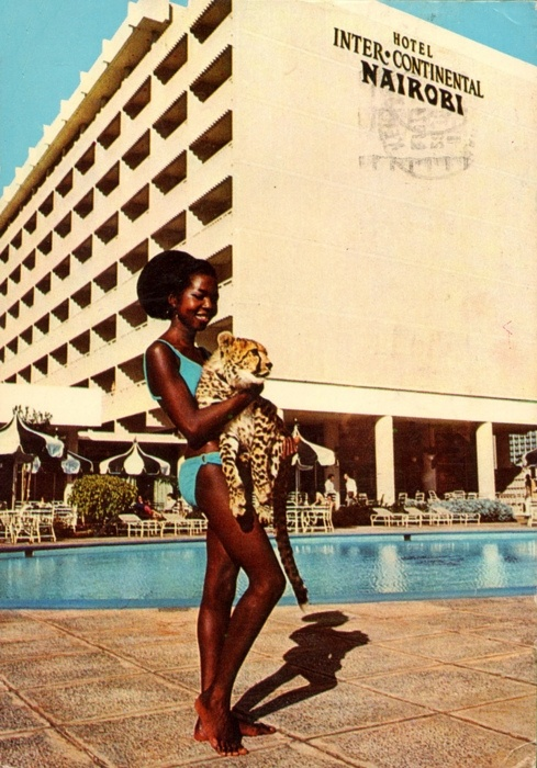 Postcard from the 1970s for Hotel Inter-Continental, Nairobi. NOT Nina Simone.
