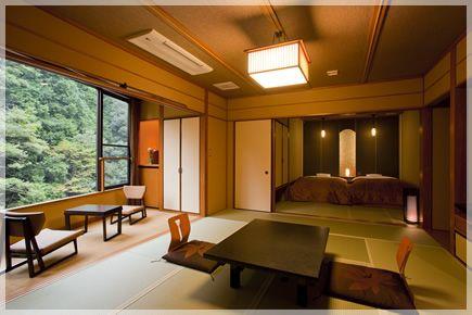 摂津峡を眺める露天風呂付客室|高槻摂津峡の温泉旅館 花の里温泉 山水館 公式HP