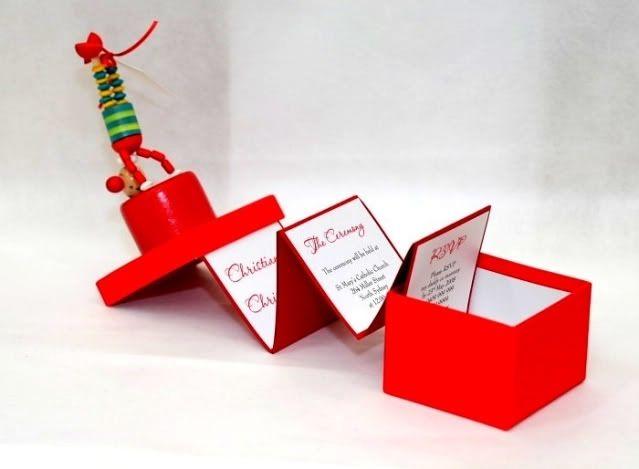 boxed circus invitations are