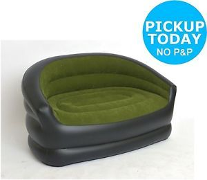 Inflatable Camping Chair Sofa Double Folding Seat Outdoor Black/Green Modern NEW  | eBay