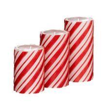 Holiday Spices™ GloLite by PartyLite® 3-Piece Swirl Pillar Garden   I LOVE these!