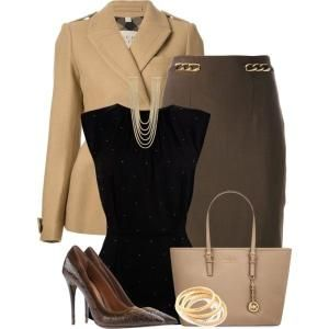 Business Casual. Love the top and jacket by doreen.m