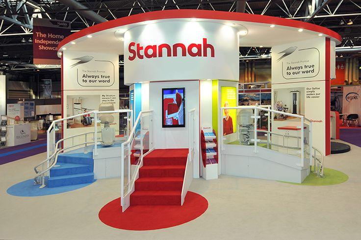 Stannah exhibition stand at Naidex National, NEC, Birmingham