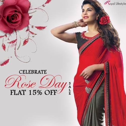 Royal Life Style wishes all its amazing & loving customers a very HAPPY ROSE DAY!!  #SHOPFORTHE #FLAT15OFF #SALE