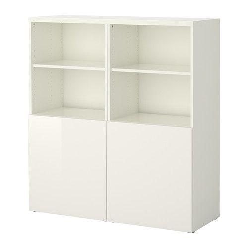 BESTÅ Comb arrumação c/portas - branco/Tofta branco/brilh - IKEA