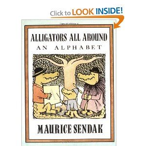 letter A book // Maurice Sendak Alligators All Around, An Alphabet With Alligator Crafts