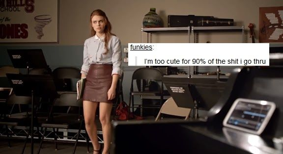 Lydia Martin from Teen Wolf + text post meme
