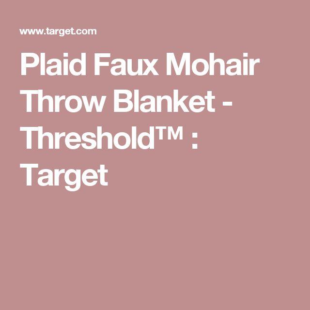 Plaid Faux Mohair Throw Blanket - Threshold™ : Target