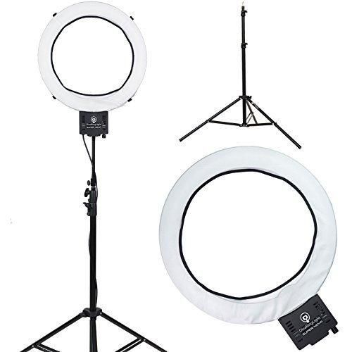 "Diva Ring Light Super Nova 18"" Dimmable Photo/Video Light with 6' Light Stand"