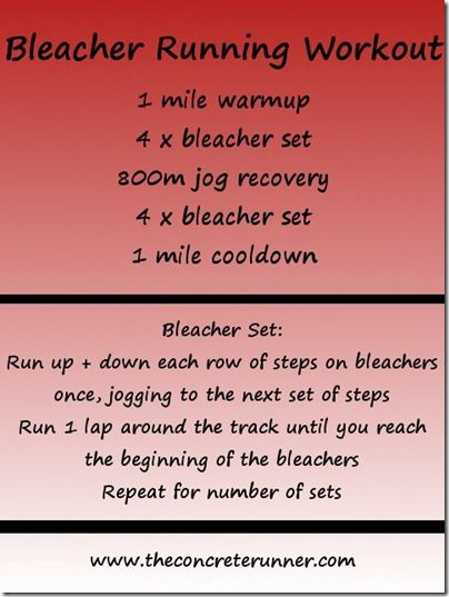 Bleacher Running Workout // Top Track Workouts