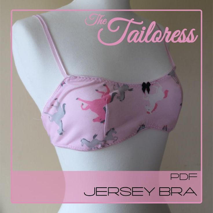 Looking for your next project? You're going to love Jersey Bra Pattern by designer The Tailoress.