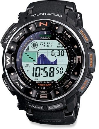 The Casio ProTrek PRW2500-1 multifunction watch is a high-performance instrument that keeps time via the accurate Atomic Clock and reliably draws its power from the sun. Available at REI, 100% Satisfaction Guaranteed.