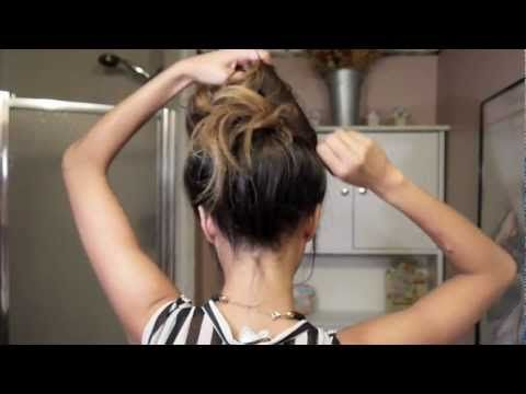 """How to create the """"perfect"""" messy bun with NO bobby pins!    Thanks for everyone who requested this tutorial, i hope you find it helpful!  This is definitely my go-to hair style for when i don't know what to do with my hair or when i just don't have the time to do anything else to it. This is an easy and chic hair style that you can do in minutes!  ..."""
