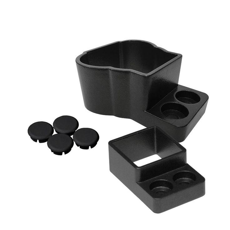 Best Aria Railing Straight Wall Mount Attach Kit In Black 400 x 300