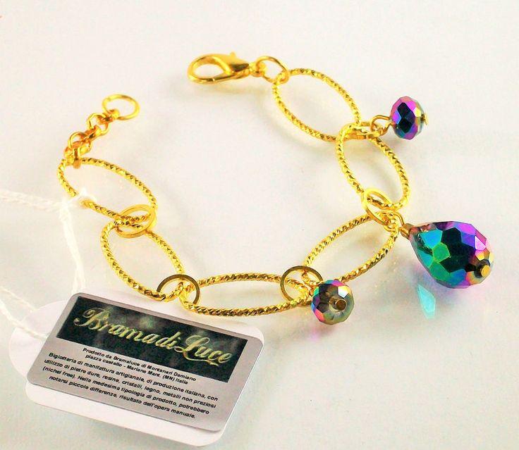 Bracciale DONNA BramadiLuce catena color oro anallergico portafortuna in Orologi e gioielli, Bigiotteria, Bracciali | eBay