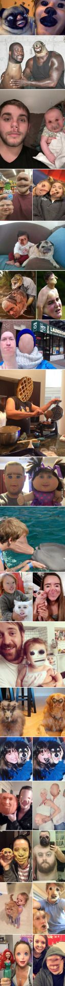 When Face Swap App Goes Terribly Wrong #lol #funny #rofl #memes #lmao #hilarious #cute