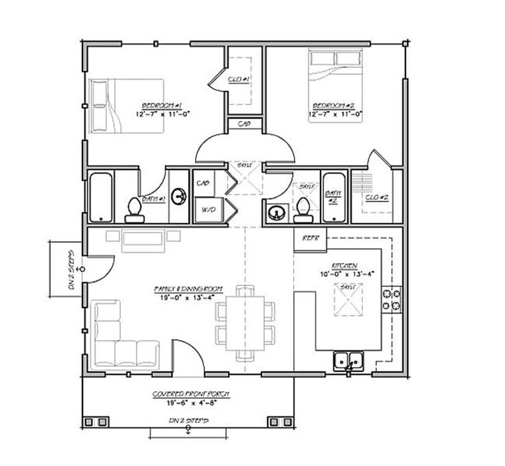 1000+ ideas about 2 bedroom house plans on pinterest | 2 bedroom