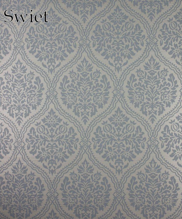 Blauw barok behang | Swiet