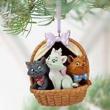 Disney Store Exclusive Aristocats In Basket Toulouse Marie Christmas Ornament