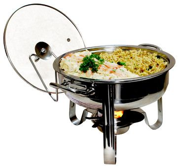 4-Quart Stainless Steel Chafing Dish contemporary specialty cookware