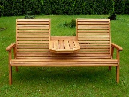 Amazing Teak Gartenbank TB1 Von TPwood   Platz Für Zwei Personen + Tisch   Aus  Nachhaltigem